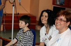 We visited the children's ward in the Pilsen University Hospital